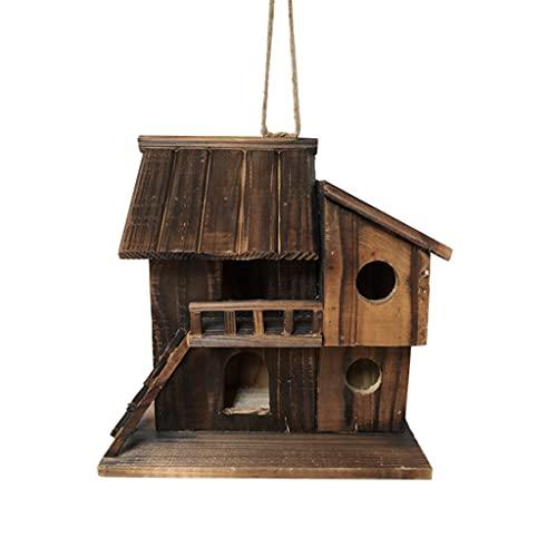 SCDCWW Conservante De Madera Nido De Pájaro Al Aire Libre Impermeable Cálido Casa De Pájaros Peonía Loro Caja De Cría Jaula De Pájaros Juguete