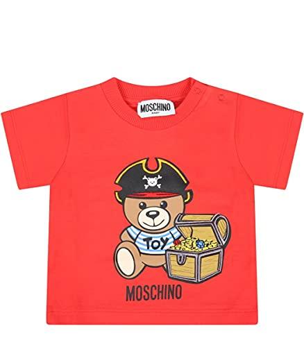 Moschino t-Shirt Baby Boy Rossa in Jersey di Cotone MWM02ALBA0850109B Rosso 9-12M