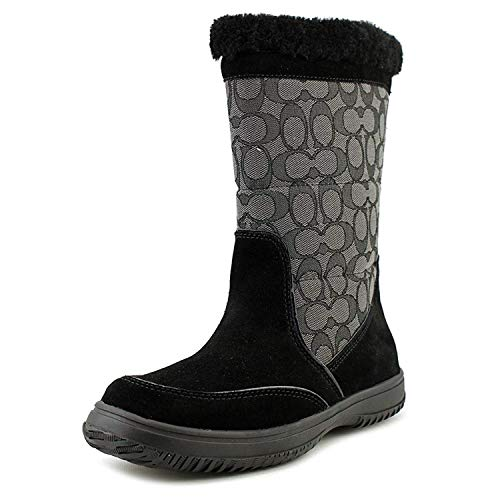 Coach Women's Sherman Signature Cold Weather Boot,Black/Black Smoke,7 M US