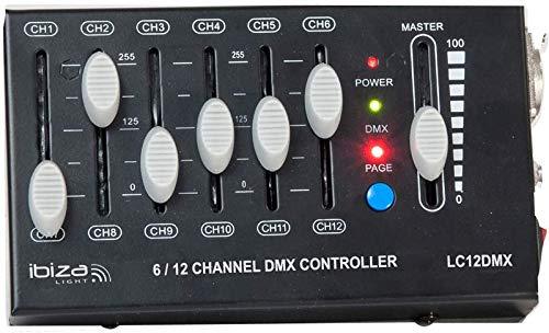 IBIZA LC12DMX 12 Kanal DMX Controller Licht LED Steuerung Mischpult Mixer Steuerpult