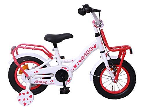 Amigo Sweetheart - Bicicleta Infantil de 12 Pulgadas - para niñas de...