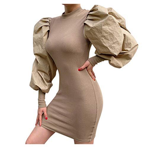 Etuikleider Kleider L Khaki 838113 (Weihnachtskleid midikleider kleid spitzenkleid cocktailkleid winterkleid blusenkleid partykleid abendkleid Audrey Hepburn pulloverkleid skaterkleid Brautjungfernk)
