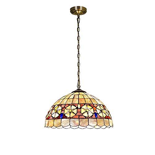 Tiffany - Lámpara colgante industrial rústica, estilo pastoral mediterráneo, camelia, para mesa de bar, estudio de escritorio de 12 pulgadas