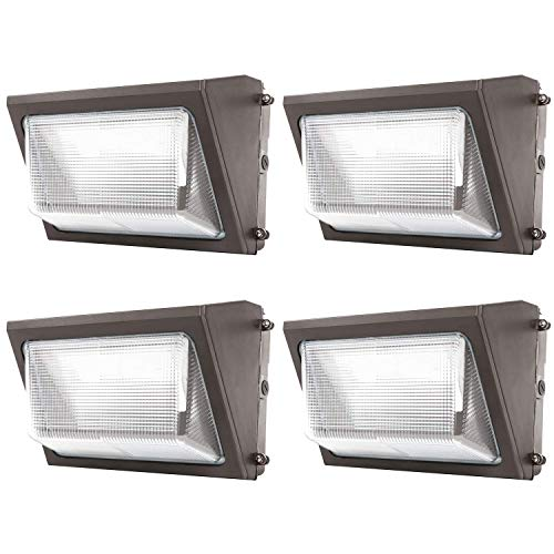 Sunco Lighting 4 Pack 80W LED Wall Pack, Daylight 5000K, 7600 LM, HID Replacement, IP65, 120-277V, Bright Consistent Commercial Outdoor Security...