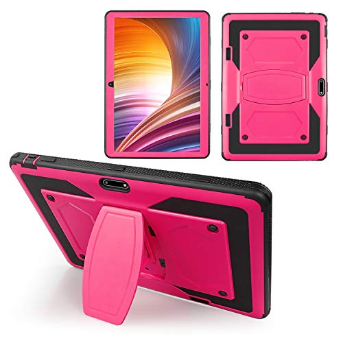 SOATUTO Case for Dragon Touch Max 10 Plus , Hybrid Case Built Kickstand for Veidoo T10 Tab、ZONKO High-Tech 、ANTEMPER、Meize K105、Flying TECH、Victbing、Lectrus、FEONAL、Wecool、HOOZO 10 inch Tablet (Pink)