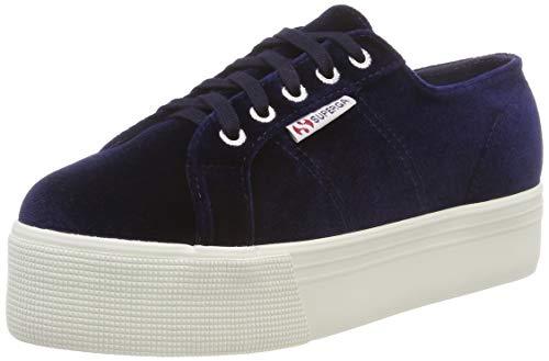 SUPERGA 2790-Velvetchenillew, Sneaker Donna, Blu (Blue 381), 37 EU