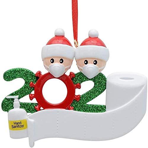 3D dreidimensional Weihnachtsschmuck,2020 Personalisierte Überlebende Familie Von 2, 3, 4, 5 Weihnachten 2020 Feiertags Dekorationen DIY Name Segen Harz Schneemann Weihnachtsbaum Hängen Anhänger
