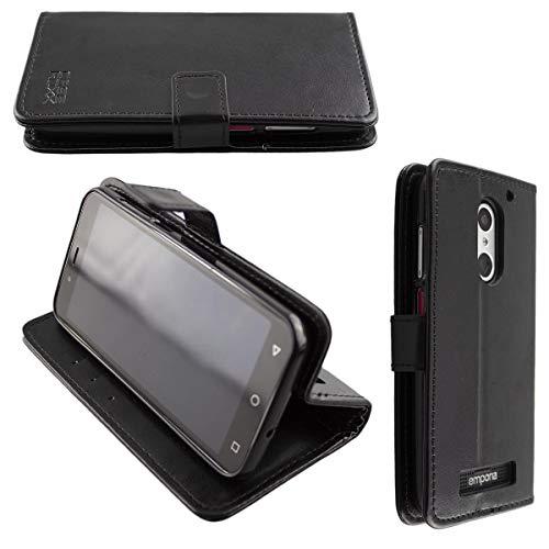 caseroxx Handy Hülle Tasche kompatibel mit Emporia Smart 4 Bookstyle-Hülle Wallet Hülle in schwarz