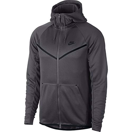 Nike Mens Tech Icon Pack Full Zip Windrunner Hoodie Dark Grey/Black AQ0823-021 Size 2X-Large