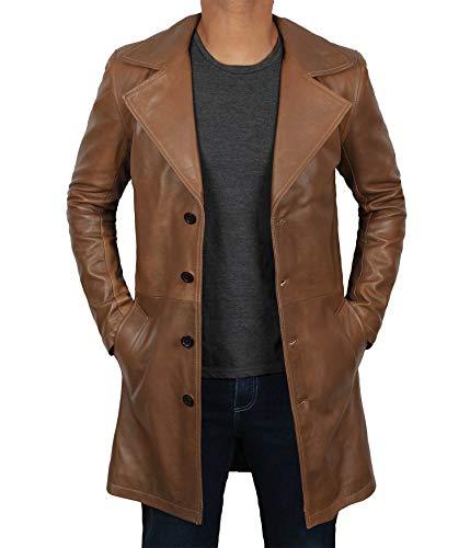 Fjackets Leather Jackets Men Black - Genuine Leather Jacket   [1500252] Btman Car Coat Brown, S