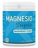 Magnesio Super Puro - 500 grammi in barattolo - Integratore di Magnesio altamente solubile in polvere - Contrasto alla stanchezza e allo stress psico-fisico- XMED