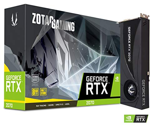 Zotac zt-t20700 a-10p Zotac NVIDIA GeForce Gaming RTX 2070 Blower GDDR6 DP/HDMI Turing VR 4 K, PCI Express nero