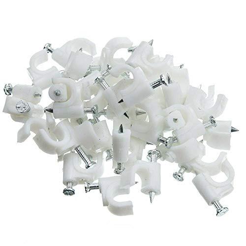 Kabelschellen Nagelschellen Kabel-Schellen mit Nagel 18mm Menge auswählbar 200 Stück