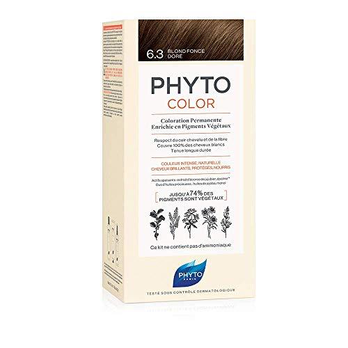 Phyto Phytocolor 6.3 Biondo Scuro Dorato Colorazione Permanente senza Ammoniaca, 100 % Copertura...