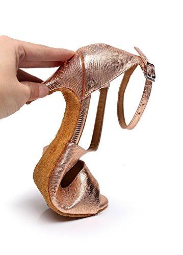 MINITOO ,  Damen Tanzschuhe, Gold – Rose/Gold-7.5cm Heel – Größe: 39 - 3