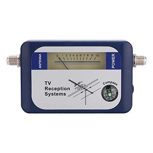 Socobeta Buscador Mini DVB-T Buscador de señal de Antena excelente sensibilidad Cable de alimentación Caja de batería AA