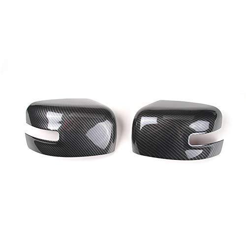 Pegatinas de coche estilo ABS para espejo retrovisor de coche, cubierta de espejo lateral, protector de marco, adhesivo para Jeep Renegade 2015+ (fibra de carbono)