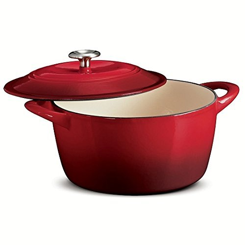 TRAMONTINA 6.5 Qt ROUND Dutch Oven OMBRE RED Enameled Cast Iron by Tramontina
