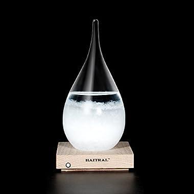Storm Glass Desktop Drops Craft Bottle Barometer Lamp Home Desk decoration, Creative Gift(Medium)