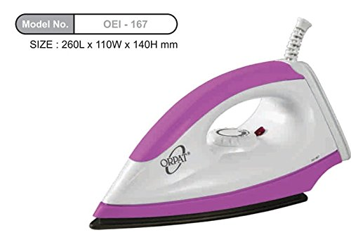 Orpat OEI-167 1000-Watt Dry Iron (Pink)