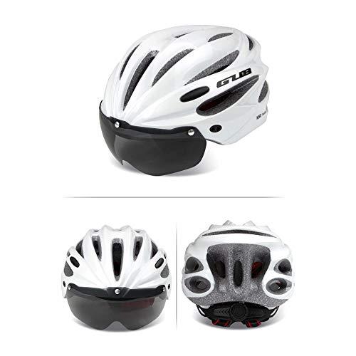 RAPG Casco de bicicleta para adultos, Gub K80 Plus con gafas magnéticas, casco de bicicleta de montaña, unisex ultraligero (con un par de lentes)