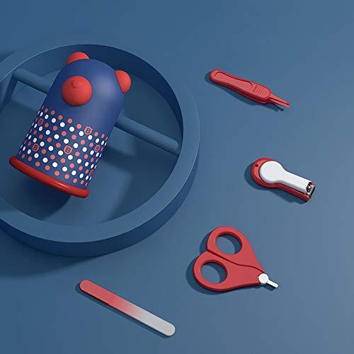 Yilin Nagelverzorgingskit voor babys, 1 nagelknipper, 1 schaar met ronde kop, 1 nagelschuurstaaf, 1 neusklem, voor peuters en kleuters