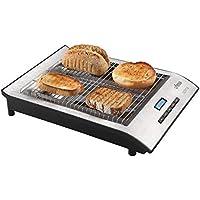 Ufesa TT7920 Optima - Tostador plano, 700 W, Pantalla LCD, Selección del grado de tostado, Ajuste continuo giratorio