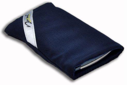 Norrun Handytasche / Handyhülle # Modell Sasso # ersetzt die Handy-Tasche von Hersteller / Modell TCM (Tchibo) Foto-Handy 303 # maßgeschneidert # mit einseitig eingenähtem Strahlenschutz gegen Elektro-Smog # Mikrofasereinlage # Made in Germany