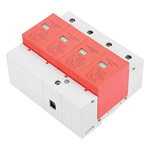Niederspannungsableiter DIN-Schienenmontage Überspannungsschutz 4P 60-100KA Hochzuverlässiger industrieller Flammschutz AC 420V für Blitzschutz