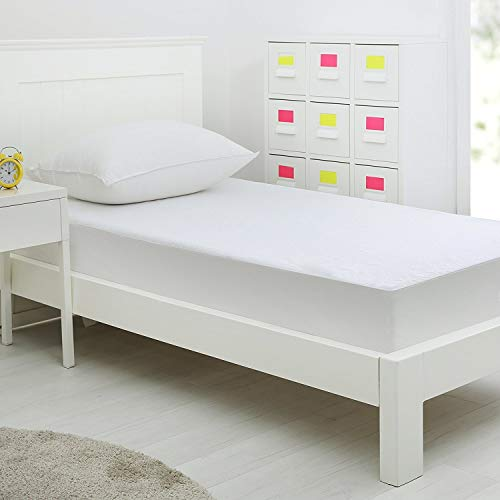 SCJ Protector de Cubierta de colchón de Toalla de Felpa Impermeable, Extra Profundo 14 Pulgadas, tamaño único