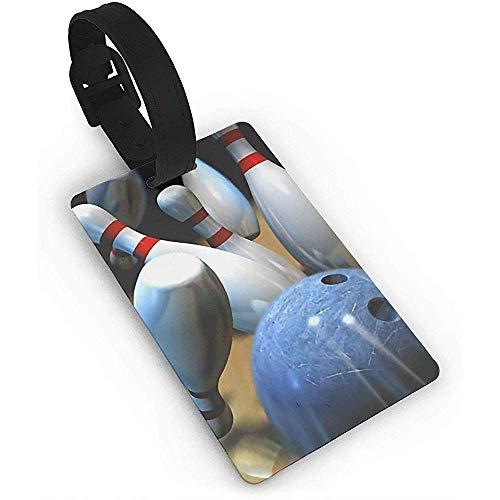 Bowling Kunststoff PVC Kofferanhänger Kofferetiketten Reisetasche ID Tags