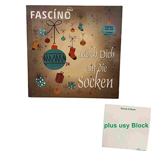 usy dm Fascino Adventskalender Mach Dich auf die Socken Damen Größe 35-38 (1 St) Block