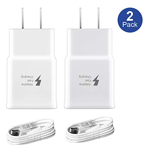 Adaptive Fast Charger kit,Wall Charger Adapter Compatible with Samsung Galaxy S7/S7 Edge/S6/Note5/4 /S3 and More (White)