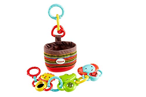 Fisher-Price Infant DFP25 - Kit da Passeggio Animaletti Agganciabili, Multicolore