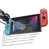Didisky [4-Unidades Cristal Templado Protector de Pantalla para Nintendo Switch, Antihuellas, Sin Burbujas, Fácil de Limpiar, 9H Dureza, Fácil de Instalar, Transparente