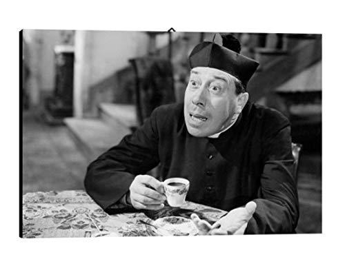Bild Cinema Caffe Don Camillo cod. 13 cm 35x50 Fernandel Druck auf Leinwand Das gemälde ist fertig zum aufhängen Il Negozio di Alex