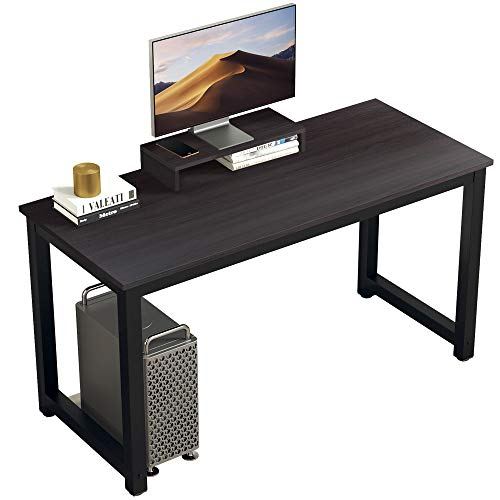 """BOJOY Computer Desk PC Laptop Study Table 47"""" Sturdy Office Desk Modern Simple Style Table for Home Office Workstation Notebook Writing Desk with Extra Monitor Stand"""