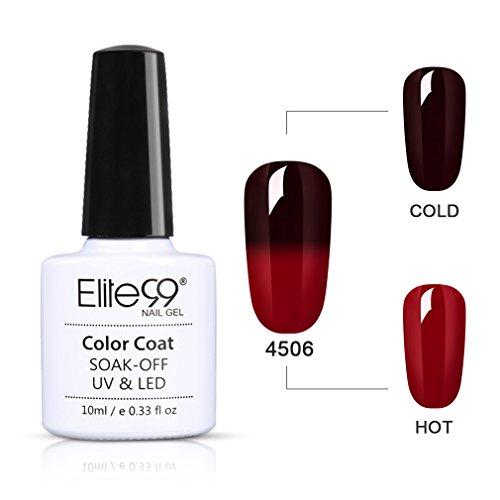 Elite99 UV LED Thermo Nagellack Farbwechselt Gel SOCK OFF Gel Peer Off Nagellack UV farbgel Gel...