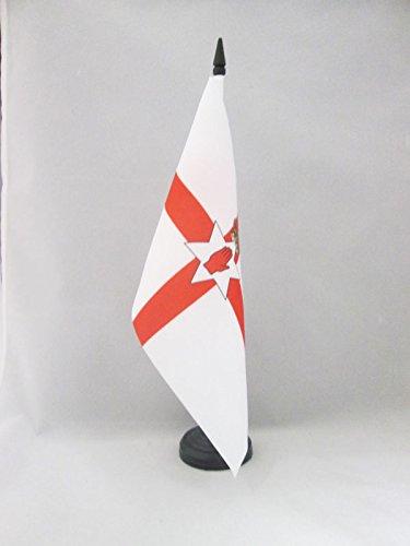 AZ FLAG TISCHFLAGGE NORDIRLAND 21x14cm - IRISCHE NORDFAHNE TISCHFAHNE 14 x 21 cm - flaggen