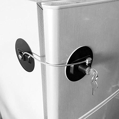 Deursloten voor koelkast met sleutel, vierkant, met ABS-slot, veiligheidsslot voor kinderen
