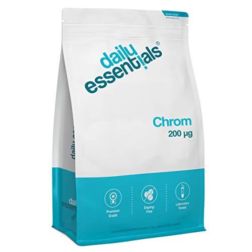 Chromium Picolinat - 500 Tabletten mit 200 mcg Chrom - essentielles Spurenelement - Laborgeprüft, ohne Magnesiumstearat, hochdosiert, vegan und hergestellt in Deutschland