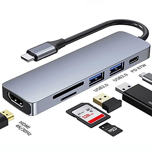 Actualización 2021 Adaptador HUB USB C USB C a USB 3.0 Base Compatible con HDMI para MacBook Air Pro Accesorios para PC Huawei Divisor USB 3.0 Tipo C Accesorios para computadora portátil