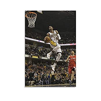 Basketball Player Paul George Dunk Canvas Poster Decorative Painting Wall Posters Family Decorative Gift Art for Men Women Teens 20×30inch 50×75cm