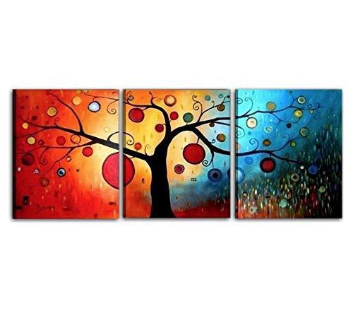I Colori del Caribe Quadri Moderni Astratti Olio su Tela Dipinti A Mano Quadro Dipinto Alta QUALITA' Made in Italy Albero dei Sogni
