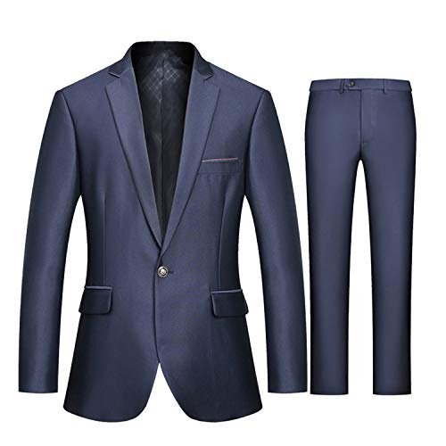 Goods-Store-uk Slim Fit Passen met Broek Blazer Mens Formele Bruiloft Pak Mens Party Jacket