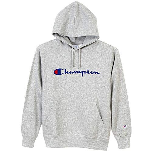 [チャンピオン] (旧モデル) パーカー スウェット 裏毛 定番 スクリプトロゴ フーデッドスウェットシャツ C3-J117 メンズ オックスフォードグレー L
