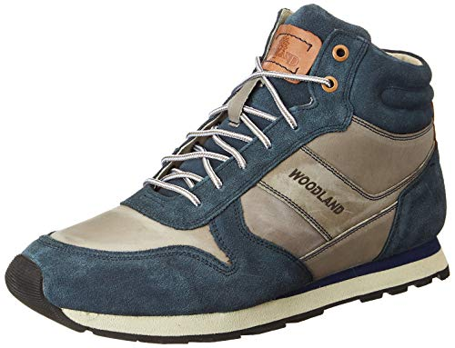 Woodland Men Gb 3107118r_Navy Leather Boots-8 UK (42 EU) (9 US) 3107118RNAVY