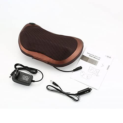 Easyeeasy Elektrisches Massagekissen Taille Hals zurück Shiatsu Knetpad Auto Fahrzeug Multifunktionales Massagekissen