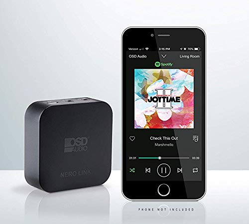 OSD Audio Nero Link Wireless WiFi Streaming Receiver w/App, Compatible with iOS/Android