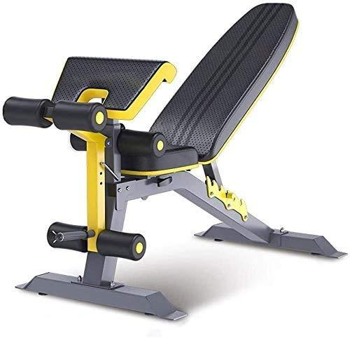 ALYR Verstellbares Hantelbank, Trainingsbank vielseitig Fitnessbank/Supine Board/Sit-Up-Bank/RüCkenlage Bord für die Ganzkörperübung,Black
